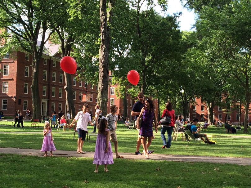 The Chairs in Harvard Yard - Red Balloon